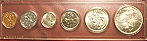 Canadian Coins, Set Of Six Encased. Beautiful Condition