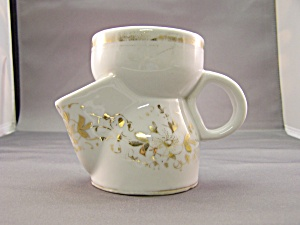 Vintage Gold Trimmed Limoges Shaving Mug