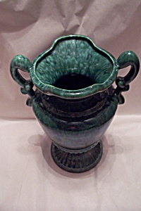 Tall Vintage Green Haeger Pottery Urn