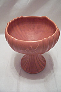 Vintage Orange Pedestal Bowl