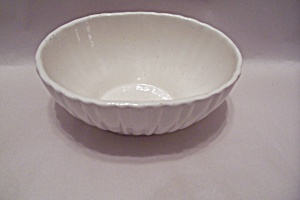 Haeger White Oval Bowl #4020