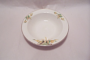 Edwin Knowles Hostess Yellow Flowers Dessert Bowl