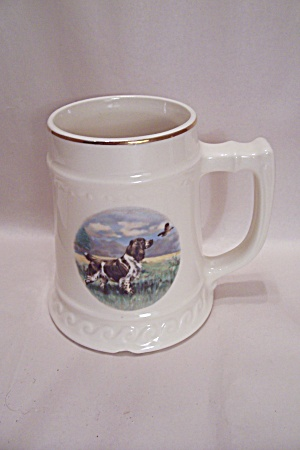 Hunting Dog Porcelain Beer Stein