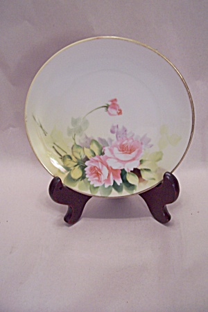 Nippon Hand Painted Rose Pattern Collector Plate