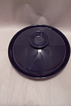 Frankoma Cobalt Blue Tortilla Warming Dish With Lid
