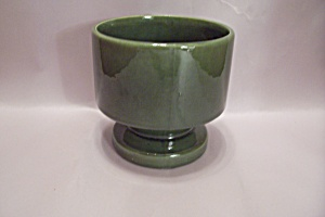 Haeger Dark Green Pedestal Bowl