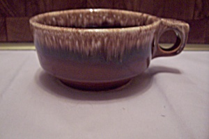 Hull Pottery Brown Drip Soup Mug With Handle