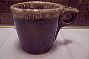 Hull Pottery Brown Drip Mug