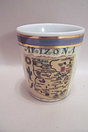 Arizona Souvenir Porcelain Toothpick Holder