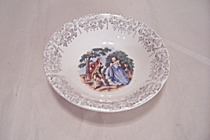 Sabin Colonial Couple Pattern China Saucer