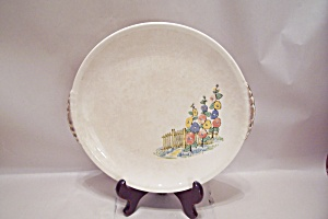 Paden City Picket Fence & Flower Pattern Dinner Plate