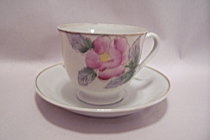 Occupied Japan Handpainted Demitasse Cup And Saucer