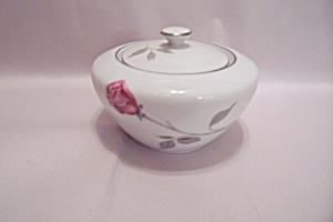 Dawn Rose Pattern Fine China Sugar Bowl With Lid