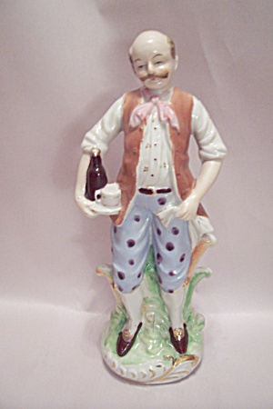 Colonial Era Bar Waiter Porcelain Figurine