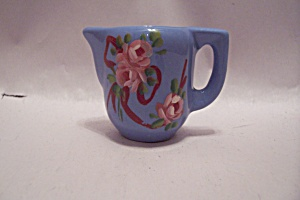 Blue Porcelain Flower Decorated Toothpick Holder