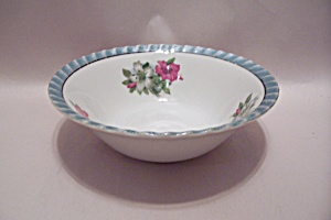 Japanese Lustre Ware Flower Decorated Bowl