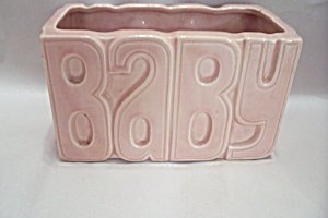 Mccoy Pink Baby Pottery Planter