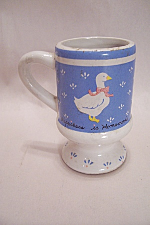 Porcelain Goose Decorated Pedestal Toothpick Holder
