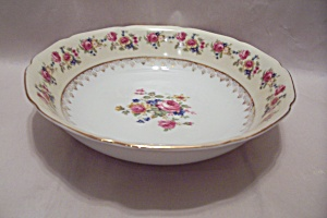 Gold Castle Pattern Fine China Round Vegetable Bowl