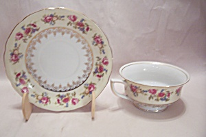 Hostess/gold Castle Pattern Fine China Cup & Saucer