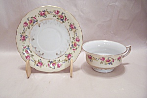 Gold Castle Pattern Fine China Cup & Saucer Set