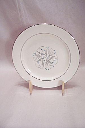 Fine China Silver Trimmed Salad Plate