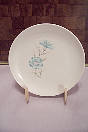 Fine China Blue Flower Decorated Salad Bowl