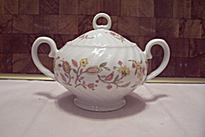 International China Sonnet Rosa Pattern Sugar W/lid