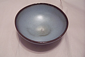 Frankoma Bluish-green Pottery 3-toed Bowl