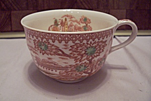 Tropical & Floral Decorated Porcelain China Teacup