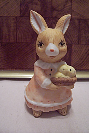 Porcelain Mother Rabbit Figurine