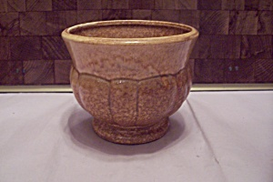Haeger Tan Drip Pottery Planter