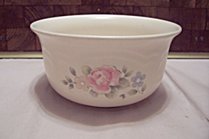 Pfaltzgraff White Porcelain Pink Rose Decorated Bowl
