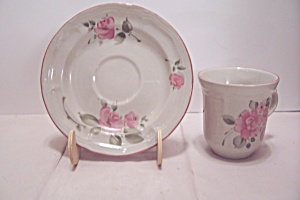 Gibson Pink Rose Pattern China Cup & Saucer Set