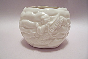Porcelain Angel Decorated Toothpick Holder