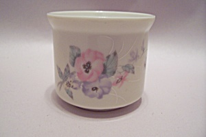 Russ Porcelain Flower Decorated Toothpick Holder