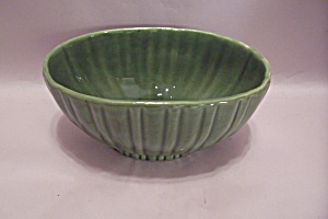 Haeger Green Pottery Oval Footed Planter