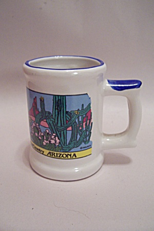 Arizona Souvenir Porcelain Mug Shaped Toothpick Holder