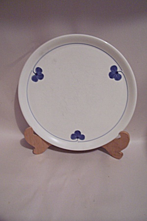 White Hand Painted Floral Motif China Snack Plate