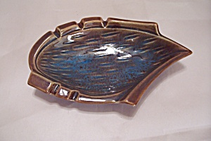 Maurice Of California Brown & Blue Porcelain Ash Tray