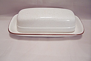 Nikko Overtones Pattern Fine China Butter Dish