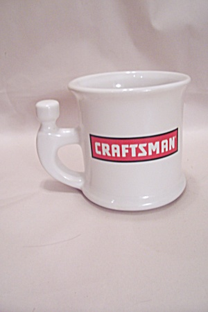 Porcelain Craftsman Advertising White Mug