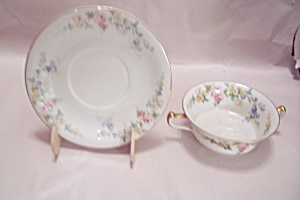 Royal Ivory The Symphony Flat Cream Soup Bowl W/saucer