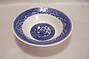 Royal China Willow Ware Pattern Coupe Soup Bowl