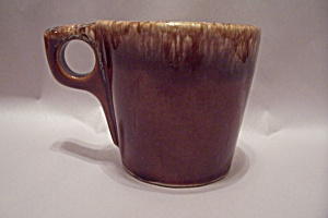 Hull Pottery Brown Drip Pattern Mug