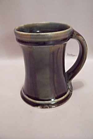 Dark Avocado Green Art Pottery Mug