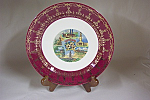 Homer Laughlin Louisiana Souvenir Plate