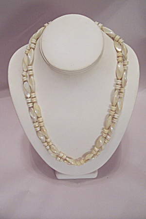 Ivory Colored Bead Necklace