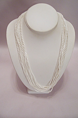 Five Strand Tiny Square Bead Necklace
