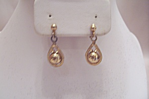 Pair Of Gold Plated Clip-on Earrings